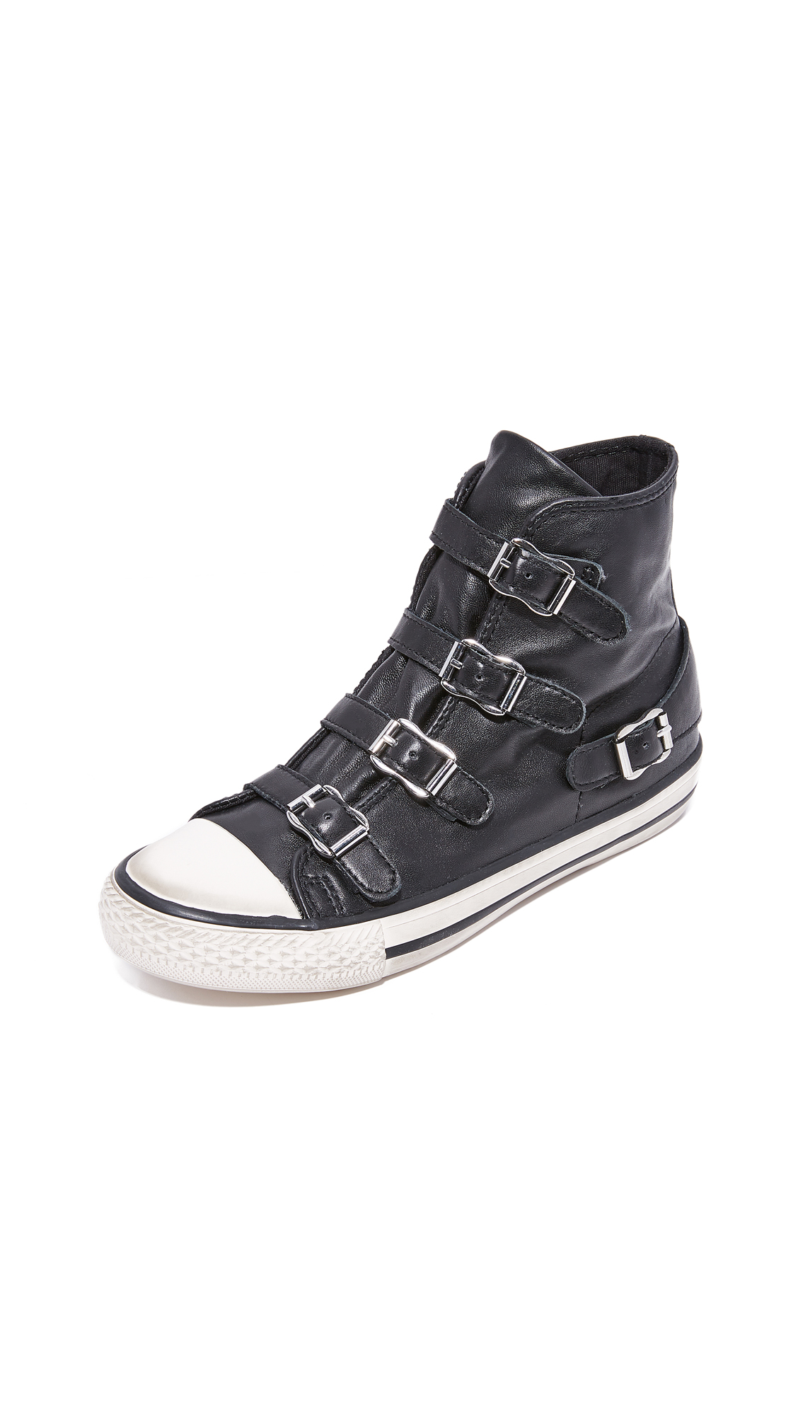 Ash Virgin Buckled High Top Sneakers - Black