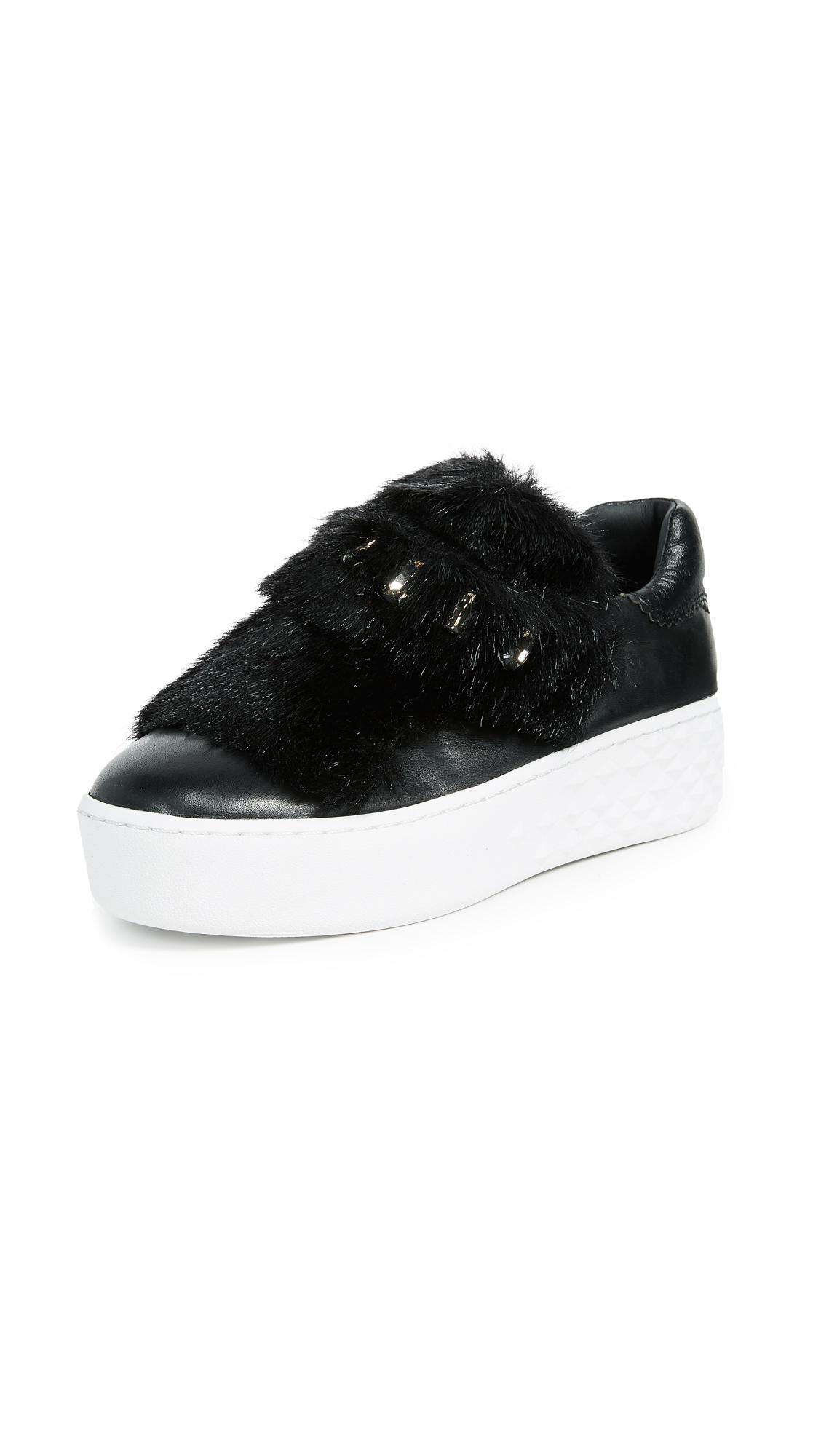 Ash Djin Platform Sneaker - Black/Black