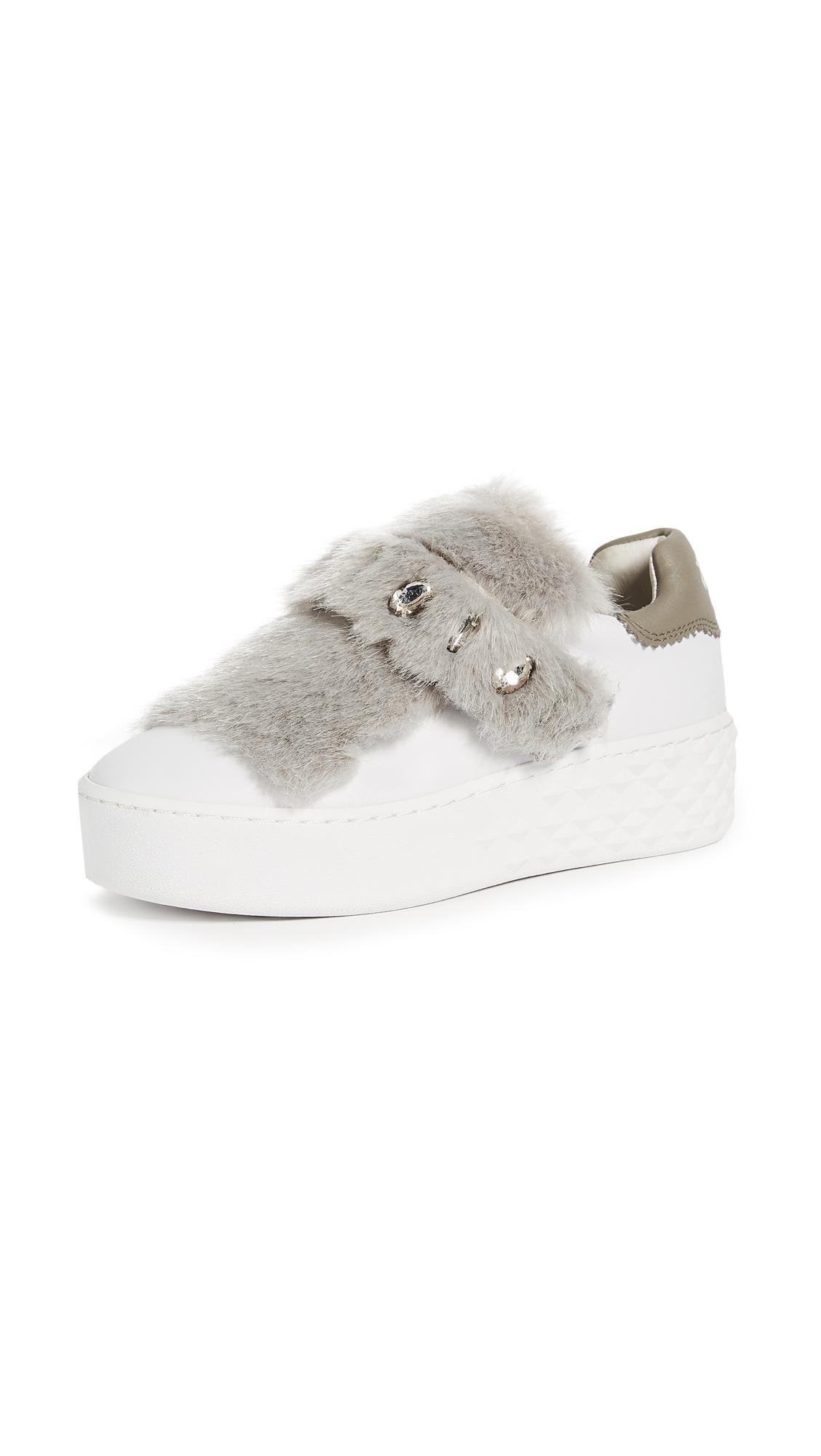 Ash Djin Platform Sneakers - White/Flanelle