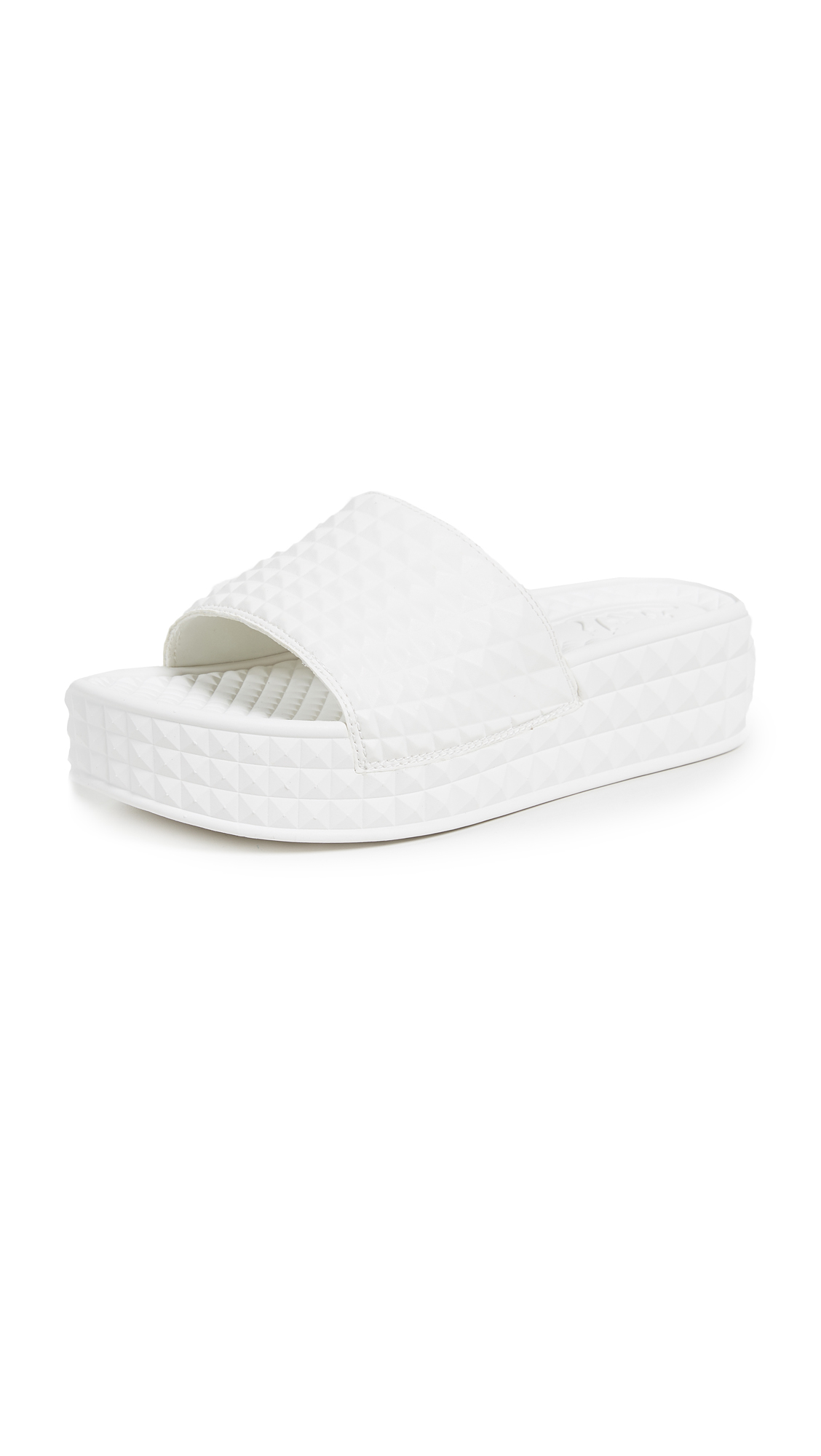 Ash Scream Slides - White