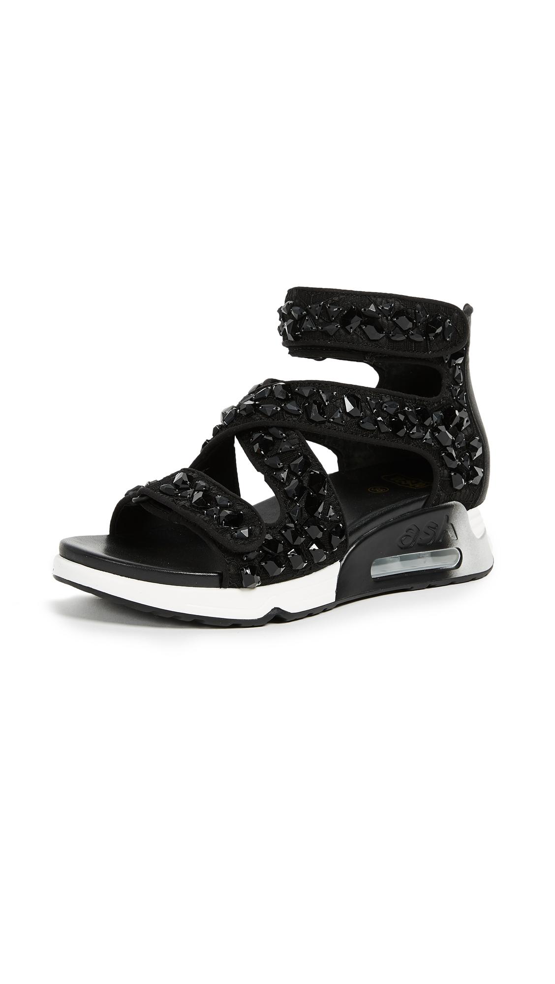Ash Lips Stones Sandals - Black/Black