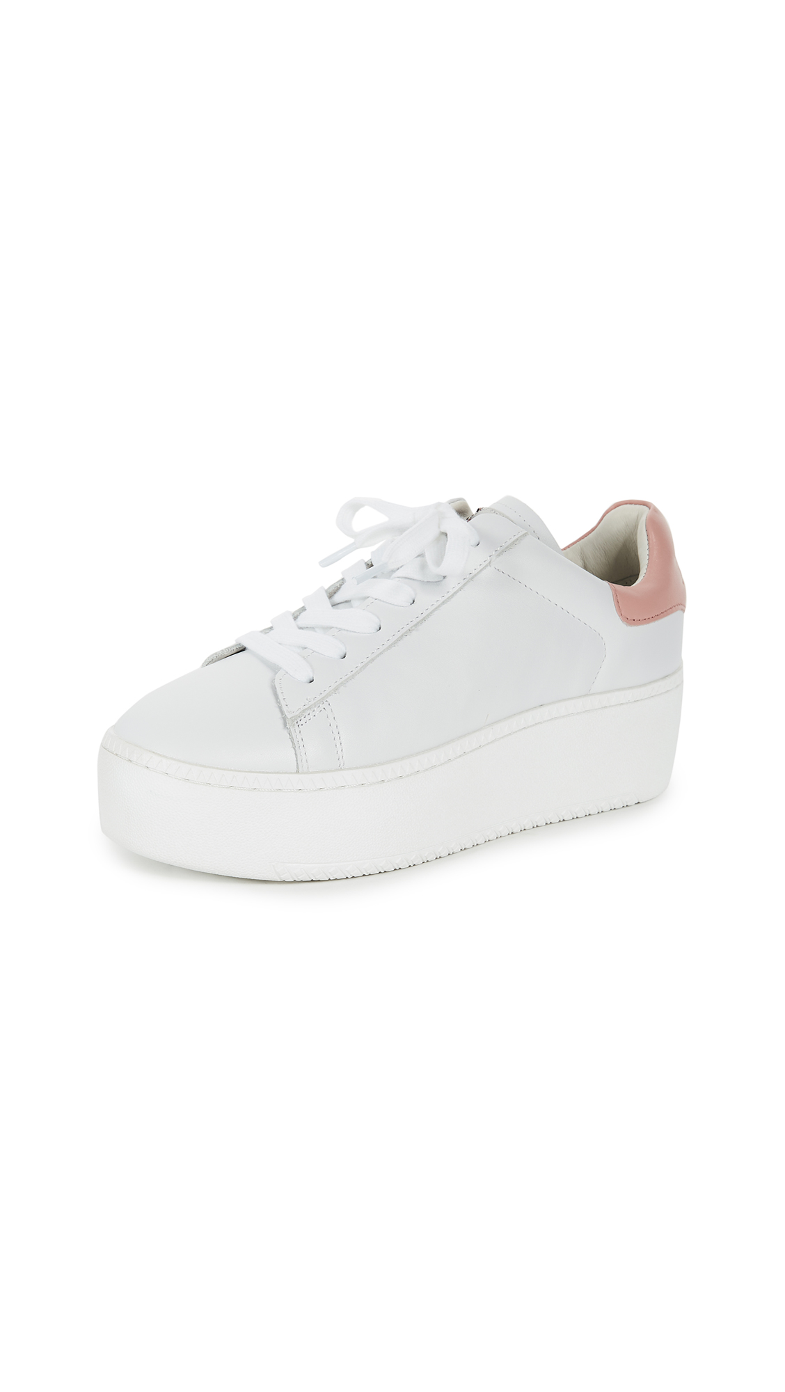 Ash Cult Platform Sneakers - White/Blush