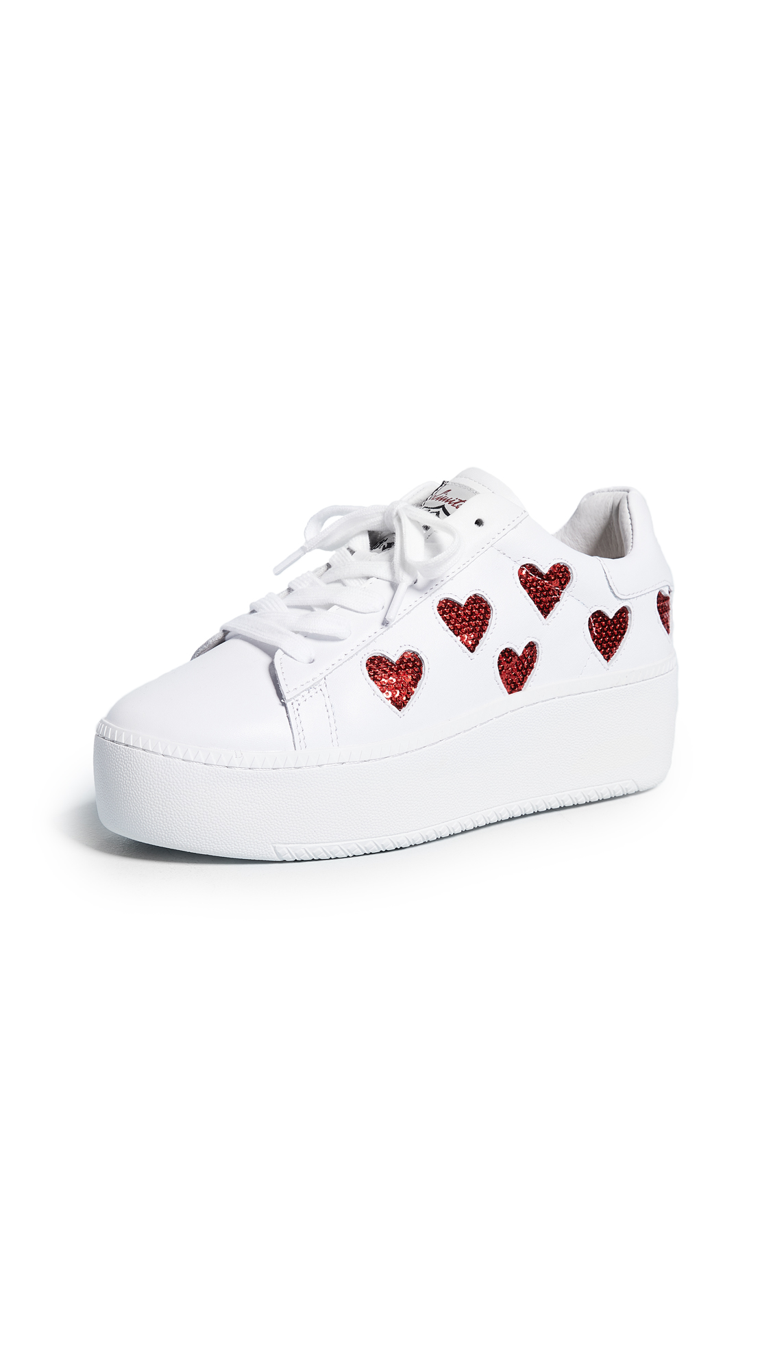 Ash Cute Platform Sneakers - White/Red