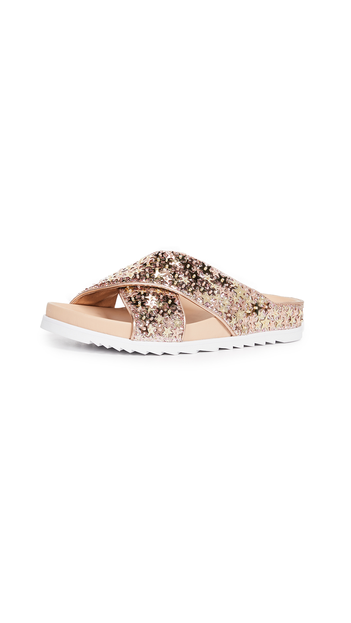 Ash Uranus Crisscross Slides - Blush/Rose Gold/Platine