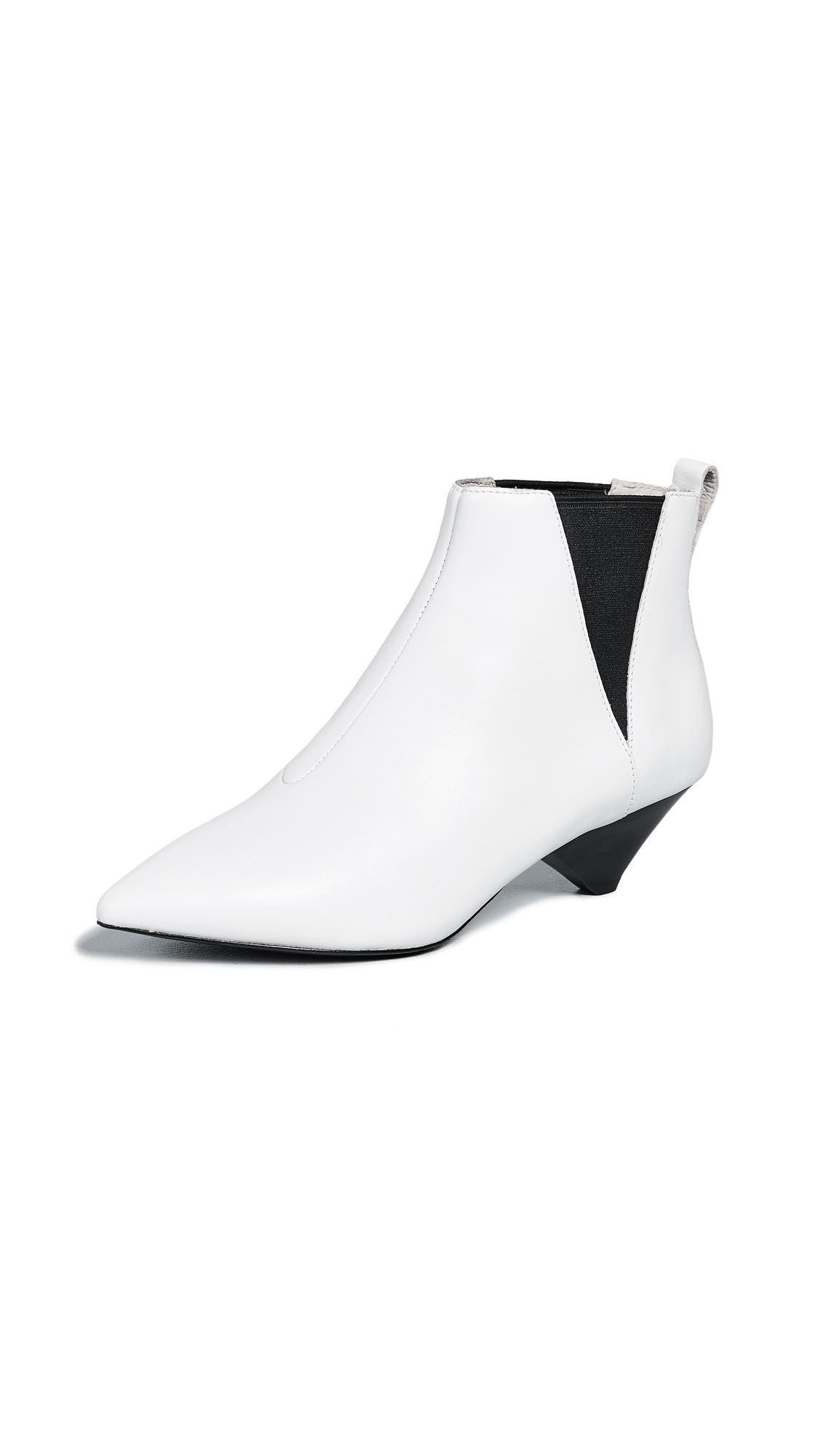 ASH Cosmos White Leather Ankle Boots