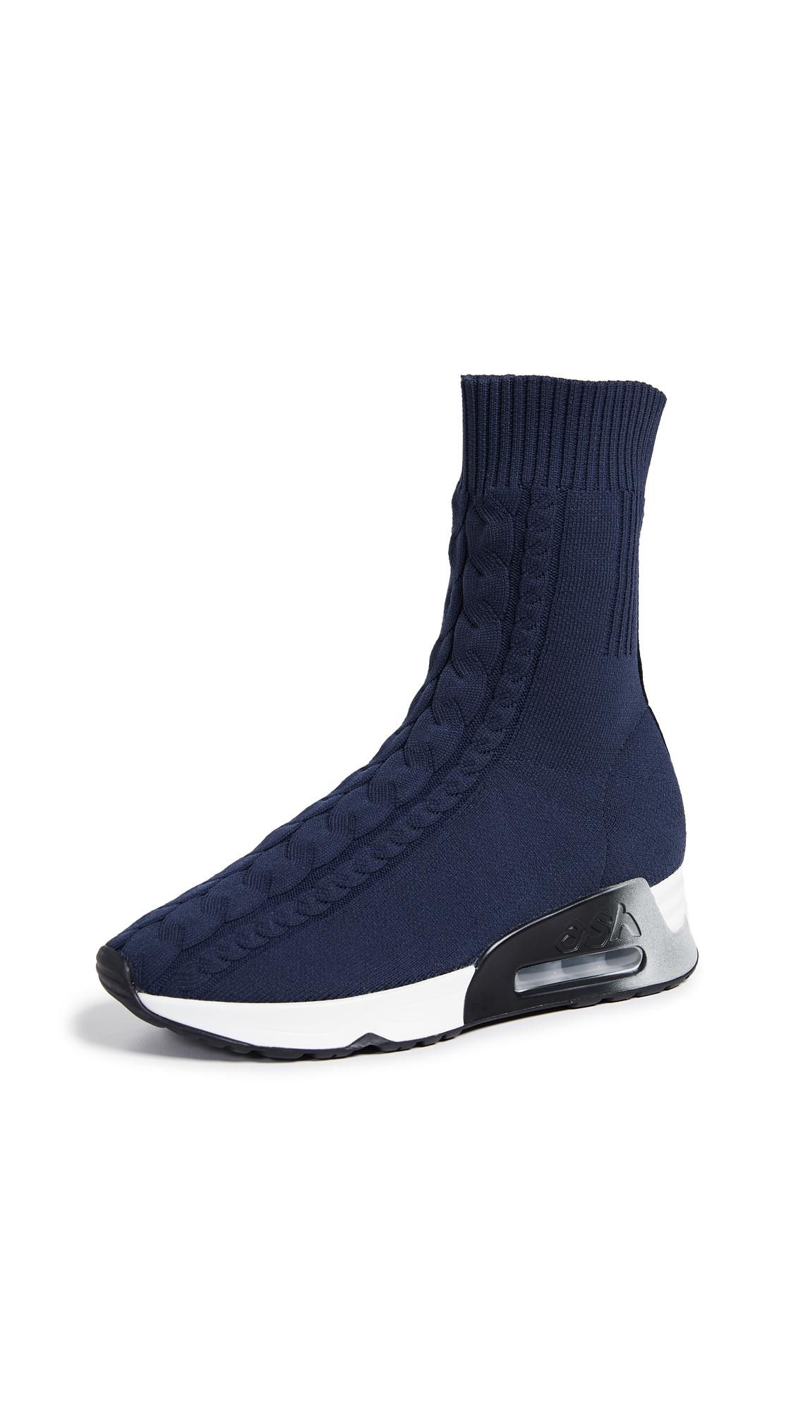 ASH Liv Knit Sneaker Bootie in Navy