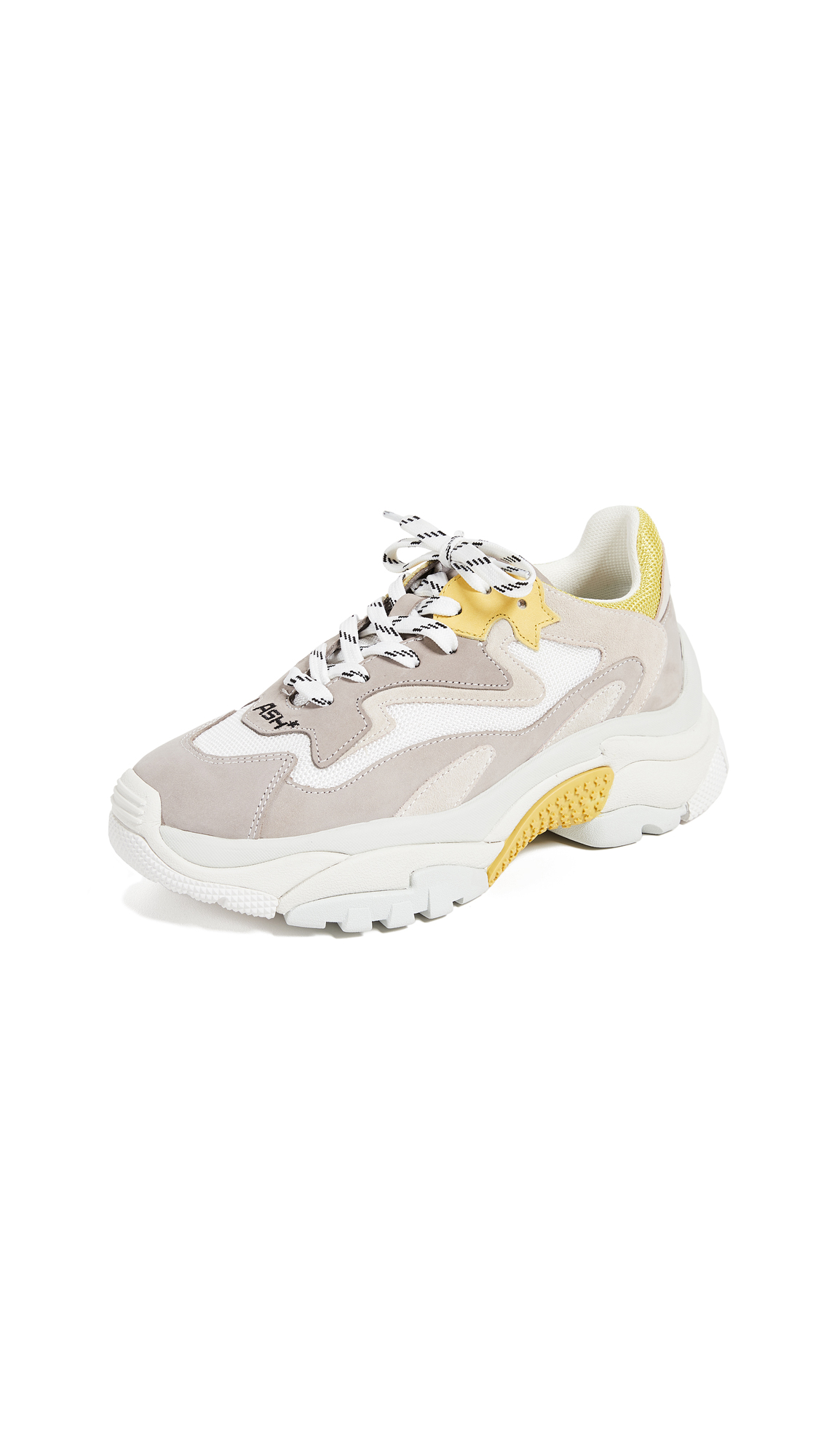 Ash Addict Trainers - Grey/Off White/Yellow/White