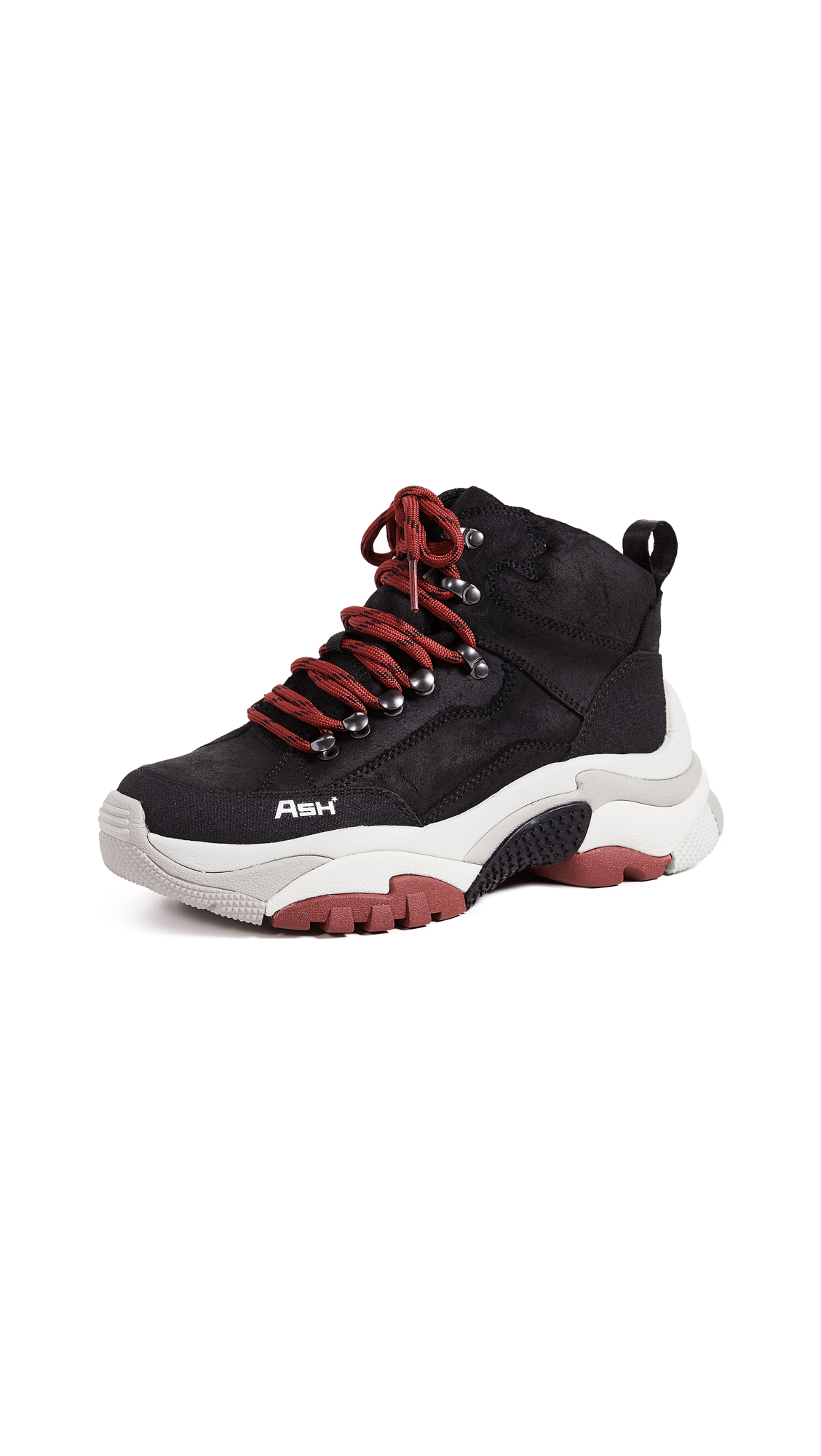 Ash Alfa Hiker Sneakers - Black/Black