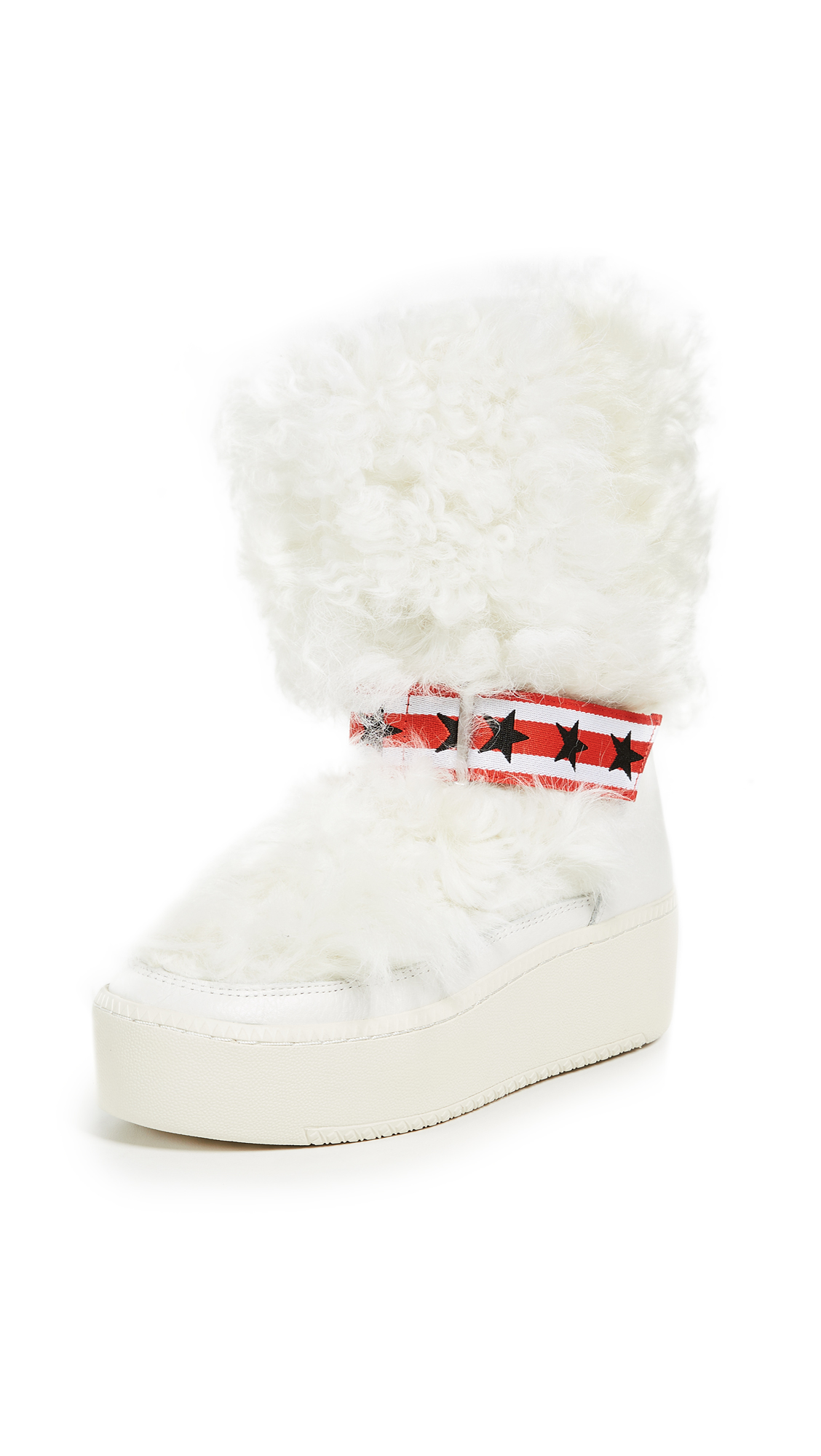 Ash Cool Fur Boots - Off White