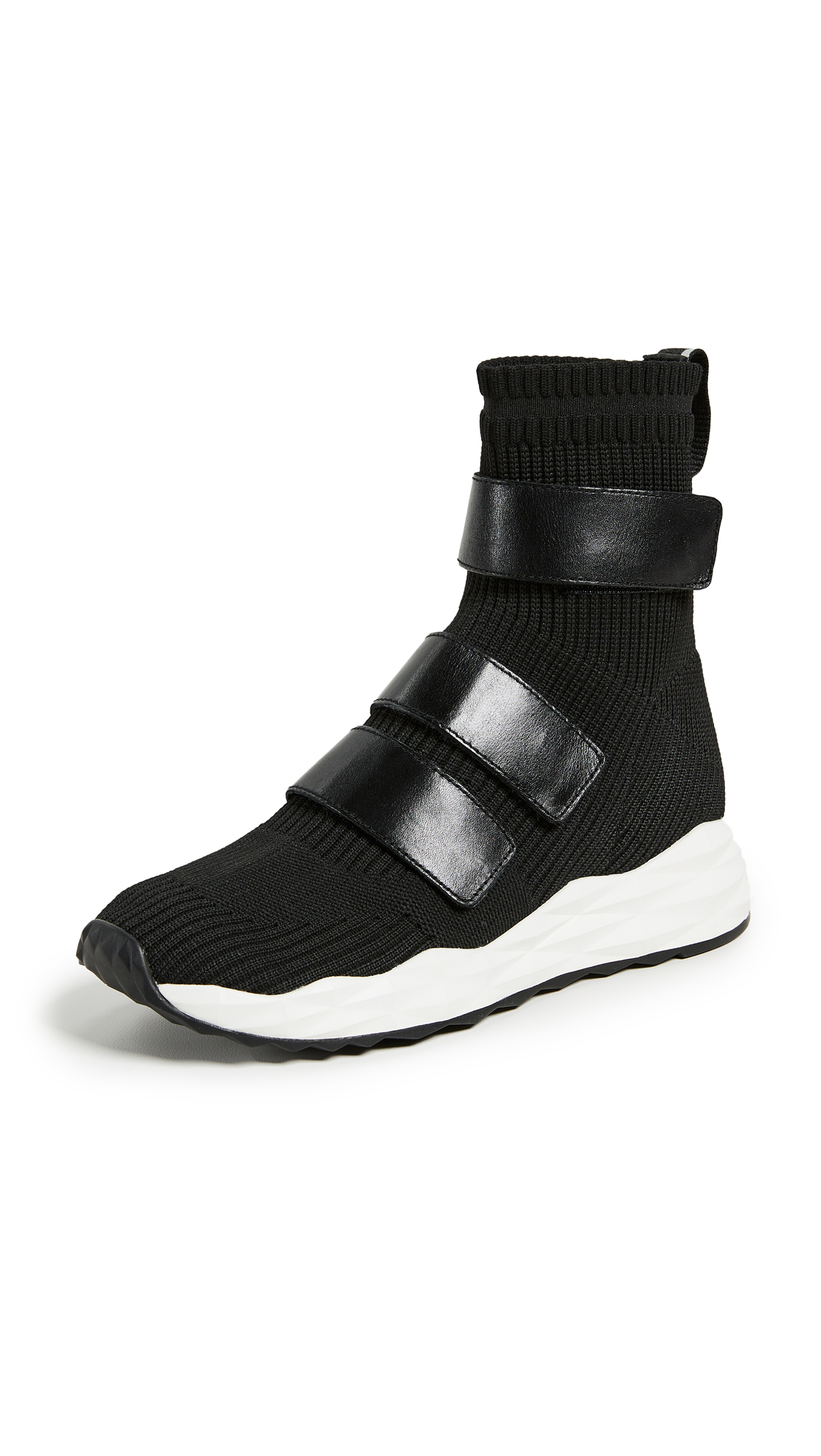 Ash Strut Knit Runners - Black/Black