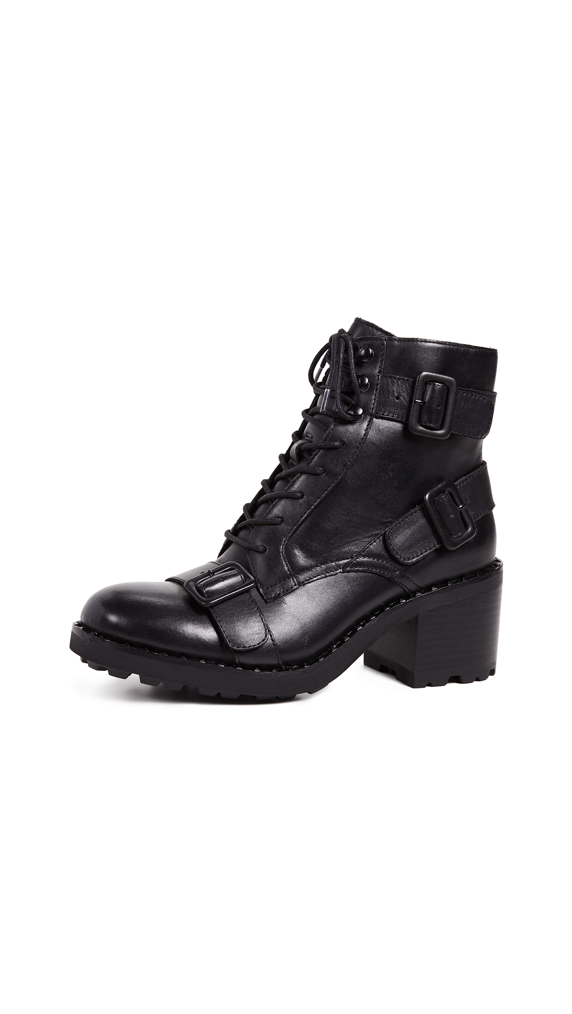 Ash Xeth Buckle Boots - Black