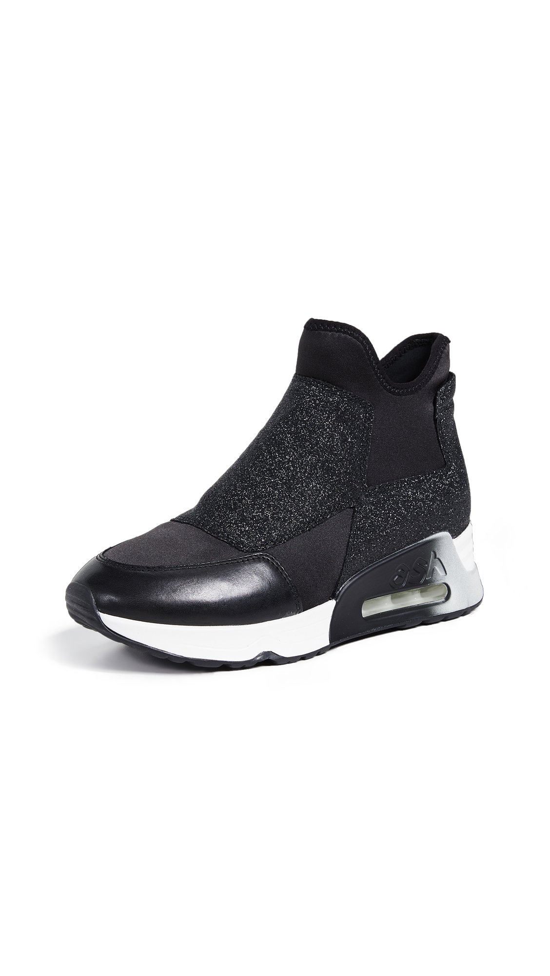 Ash Lazer Glitter Sneakers - Black/Black