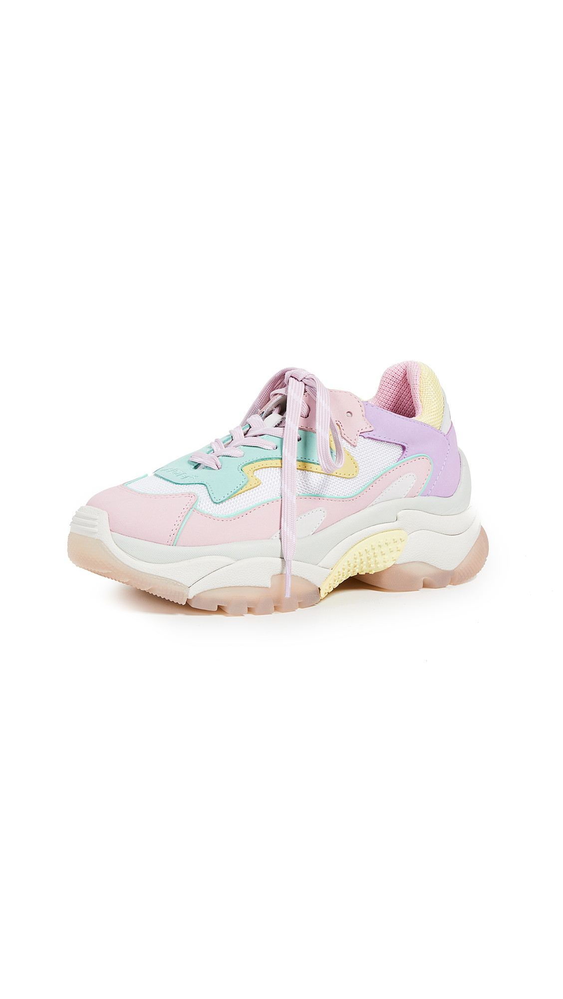 Ash Addict Bis Trainers - Baby Rose/Mint/White/Chick
