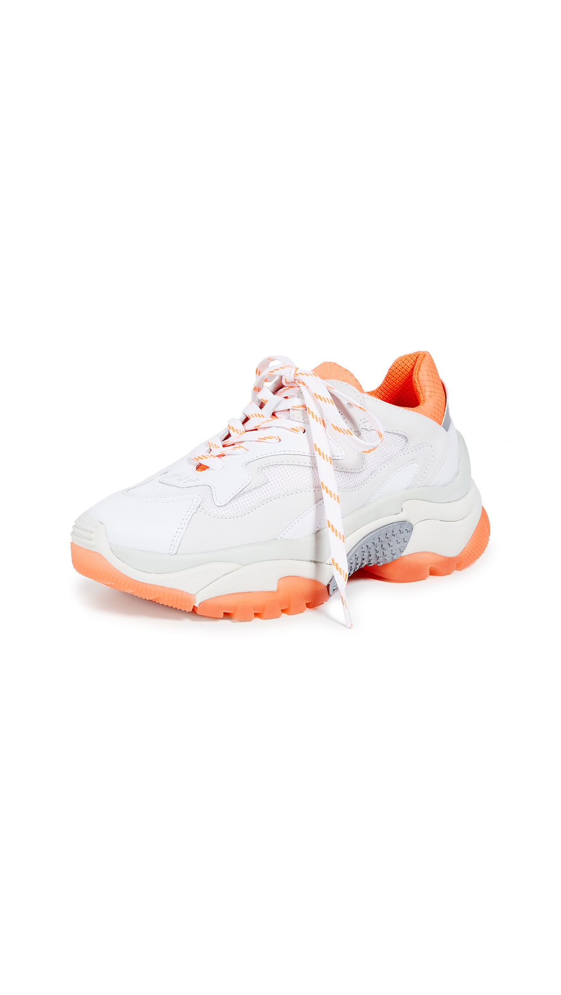 Ash Addict Trainers - White/Fluo Orange/Silver