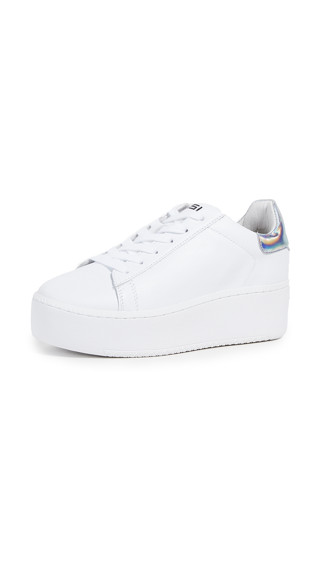 Ash Cult Platform Sneakers - White/Rainbow Silver