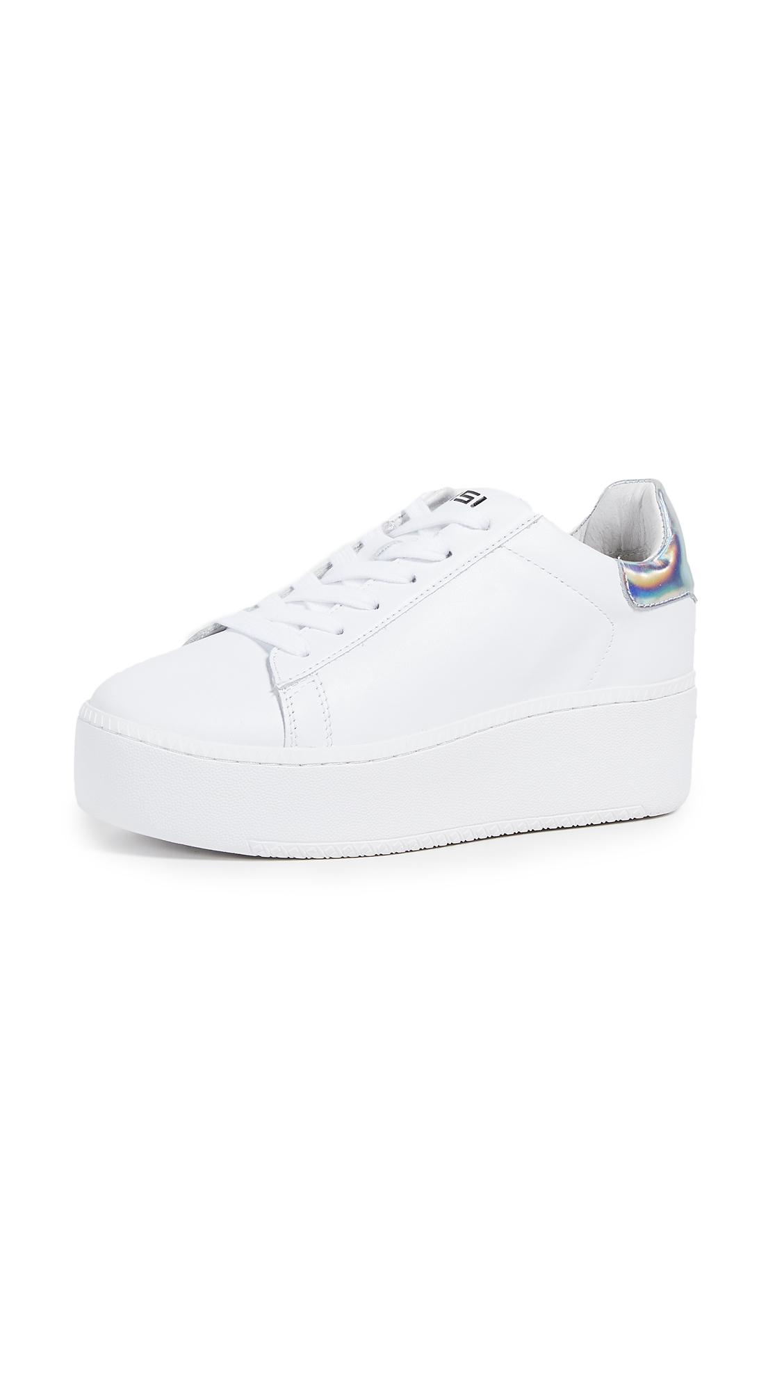 Ash Cult Platform Sneakers - White/Rainbow Silver