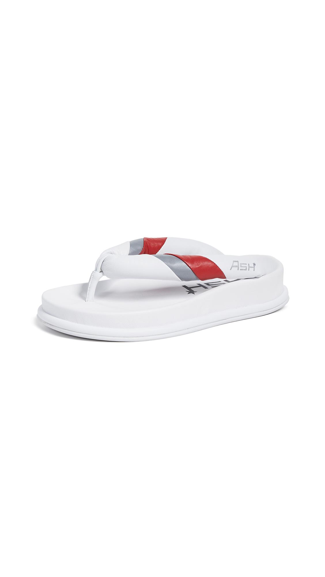 Ash Tonic Flip Flops - White/Lipstick/Silver