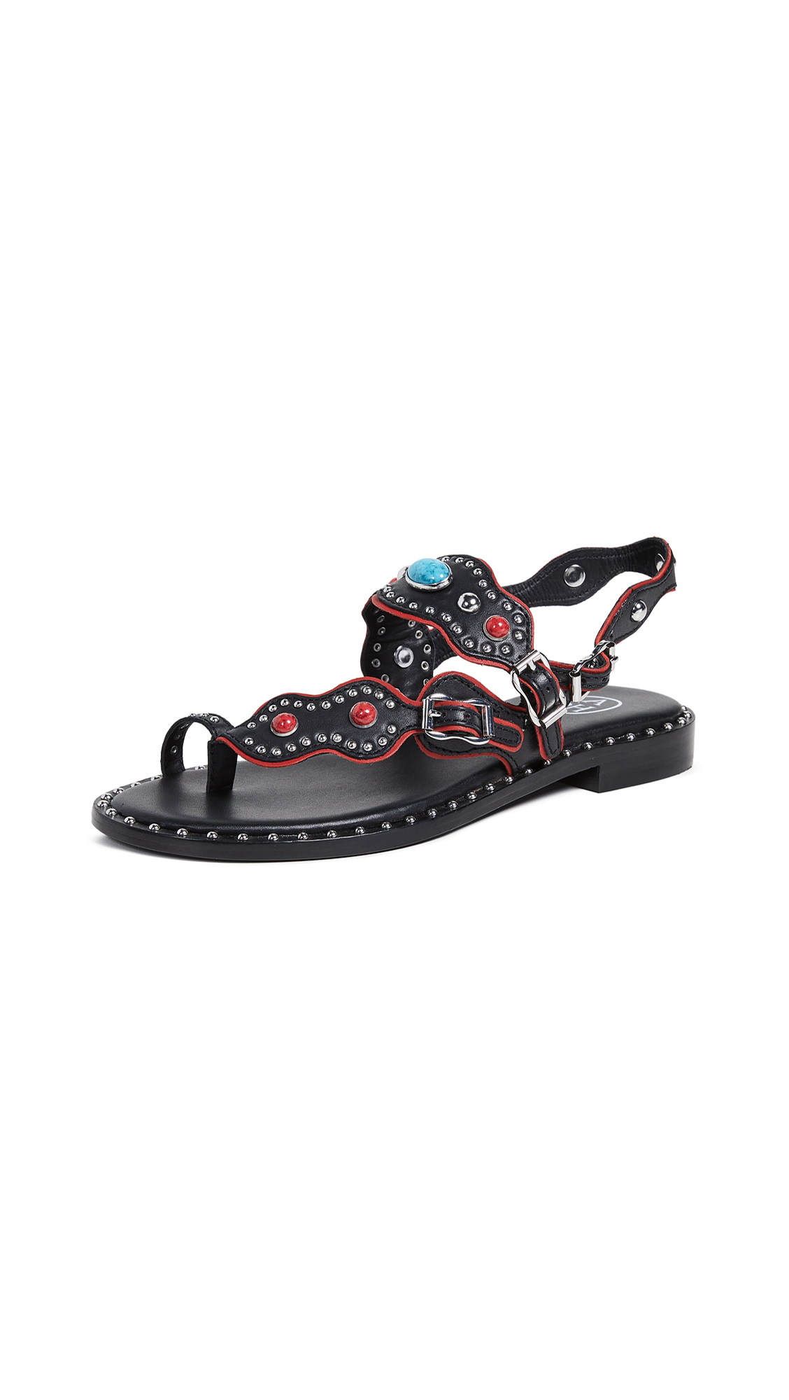 Ash Pacha Sandals - Black/Red