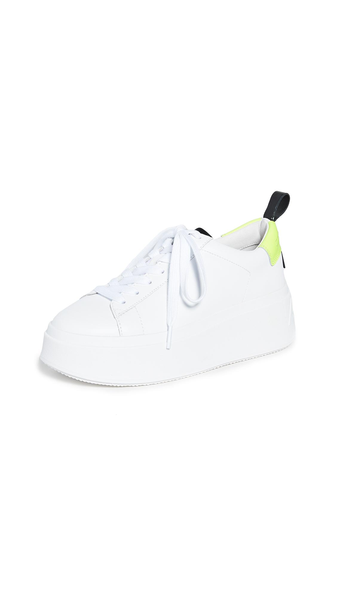 Ash Moon Platform Sneakers - White/Fluo Yellow/Black