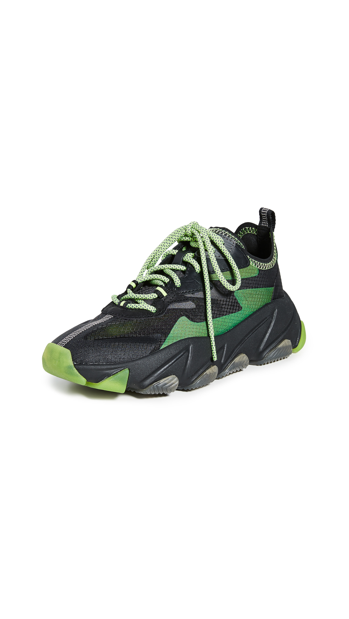 Ash Eclipse Sneakers - Black/Fluo Yellow