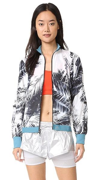 adidas by Stella McCartney Run Palm Print Jacket - Black/White