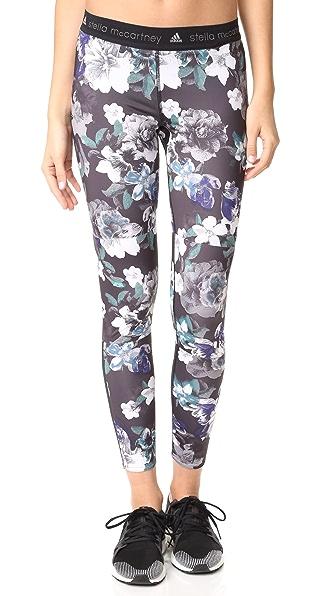 adidas by Stella McCartney Run Adizero Blossom Leggings - Black/Deepest Purple