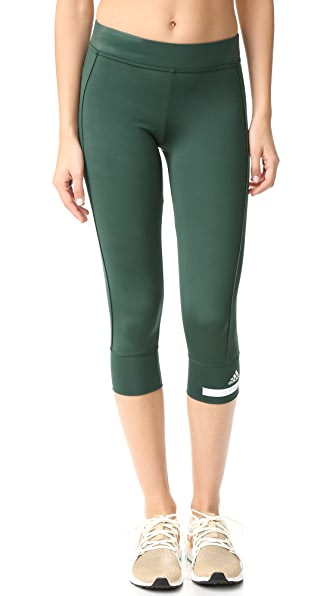 adidas by Stella McCartney Essentials 3/4 Leggings - Deepest Green