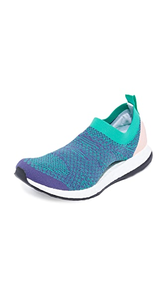 adidas by Stella McCartney Pure Boost X Sneakers - Plum/Core Green/Cream White