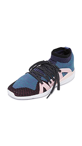 adidas by Stella McCartney Crazymove Bounce Sneakers - Black & White/Plum/Ballet