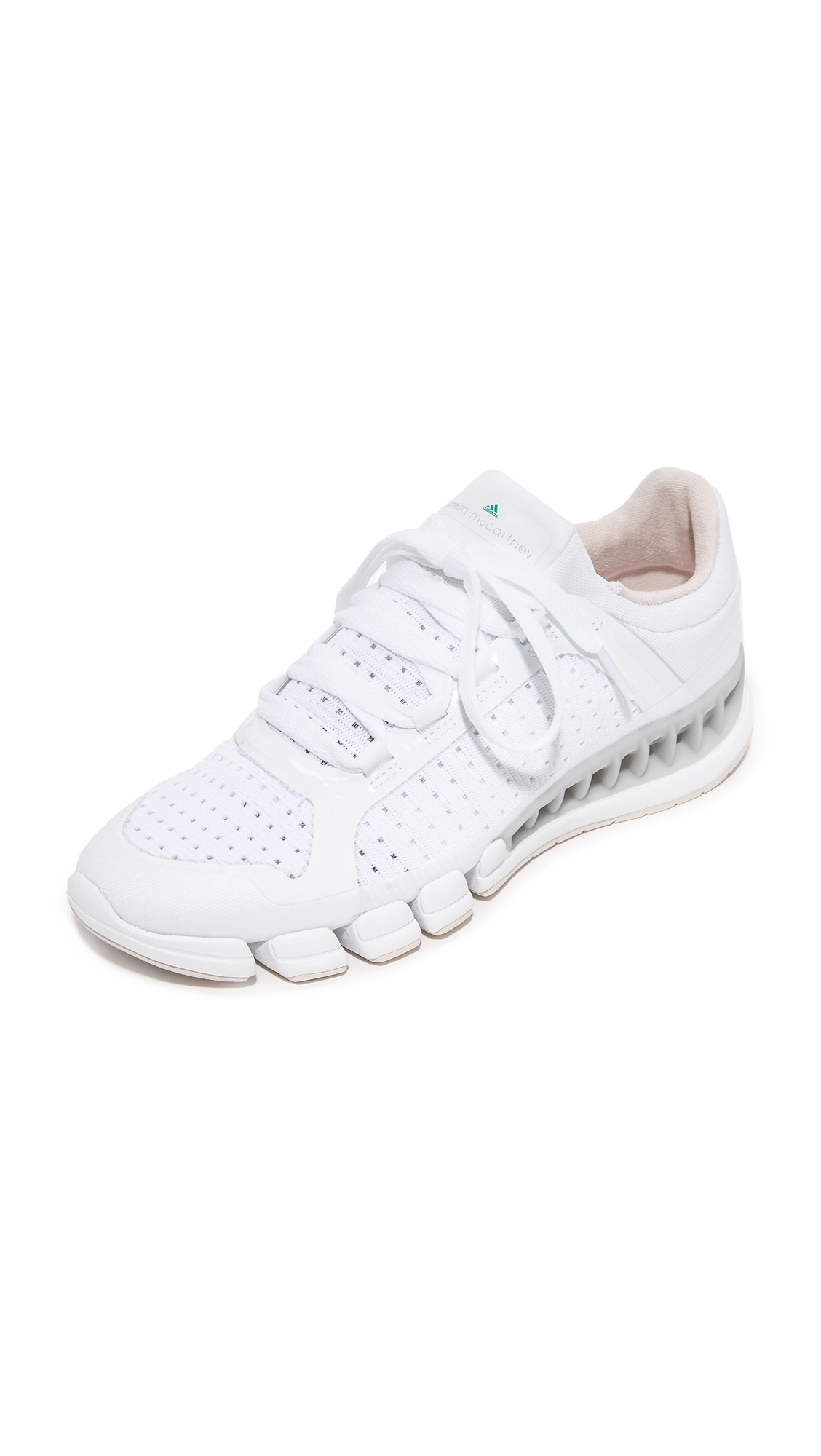 adidas by Stella McCartney Clima Cool Sneakers - White & Black/Echo Pink/Green