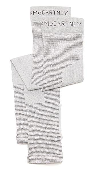 adidas by Stella McCartney Yoga Legwarmers In Light Grey/Night Steel