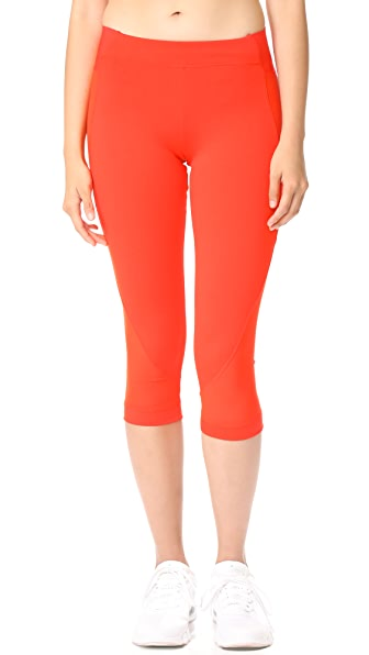 adidas by Stella McCartney Train 3/4 Tights - Core Red
