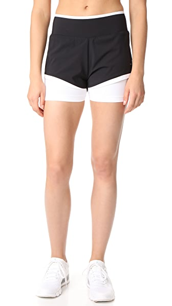 adidas by Stella McCartney Train Shorts - Black/White