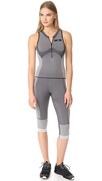 adidas by Stella McCartney Yoga All in One Jumpsuit - Black/White