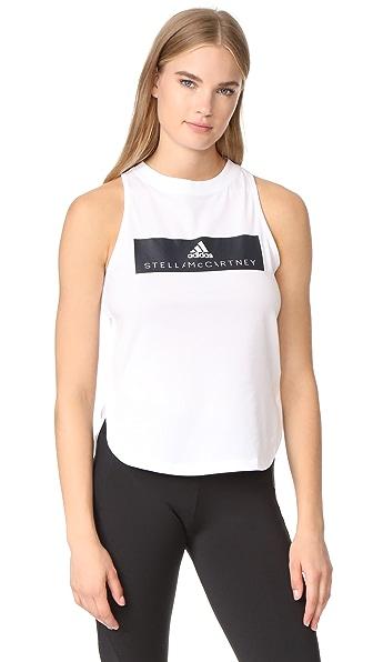 adidas by Stella McCartney Essentials Logo Tank - White