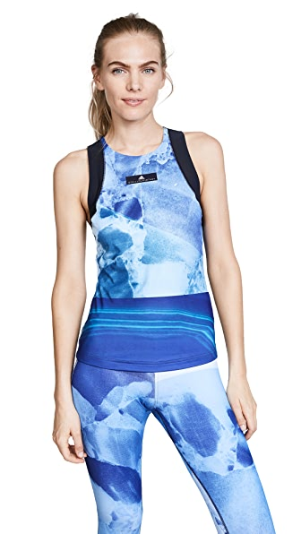 adidas by Stella McCartney Running Stone Tank In Legend Blue