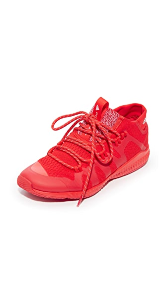 adidas by Stella McCartney CrazyTrain Bounce Mid Sneakers - Core Red/FTWR White