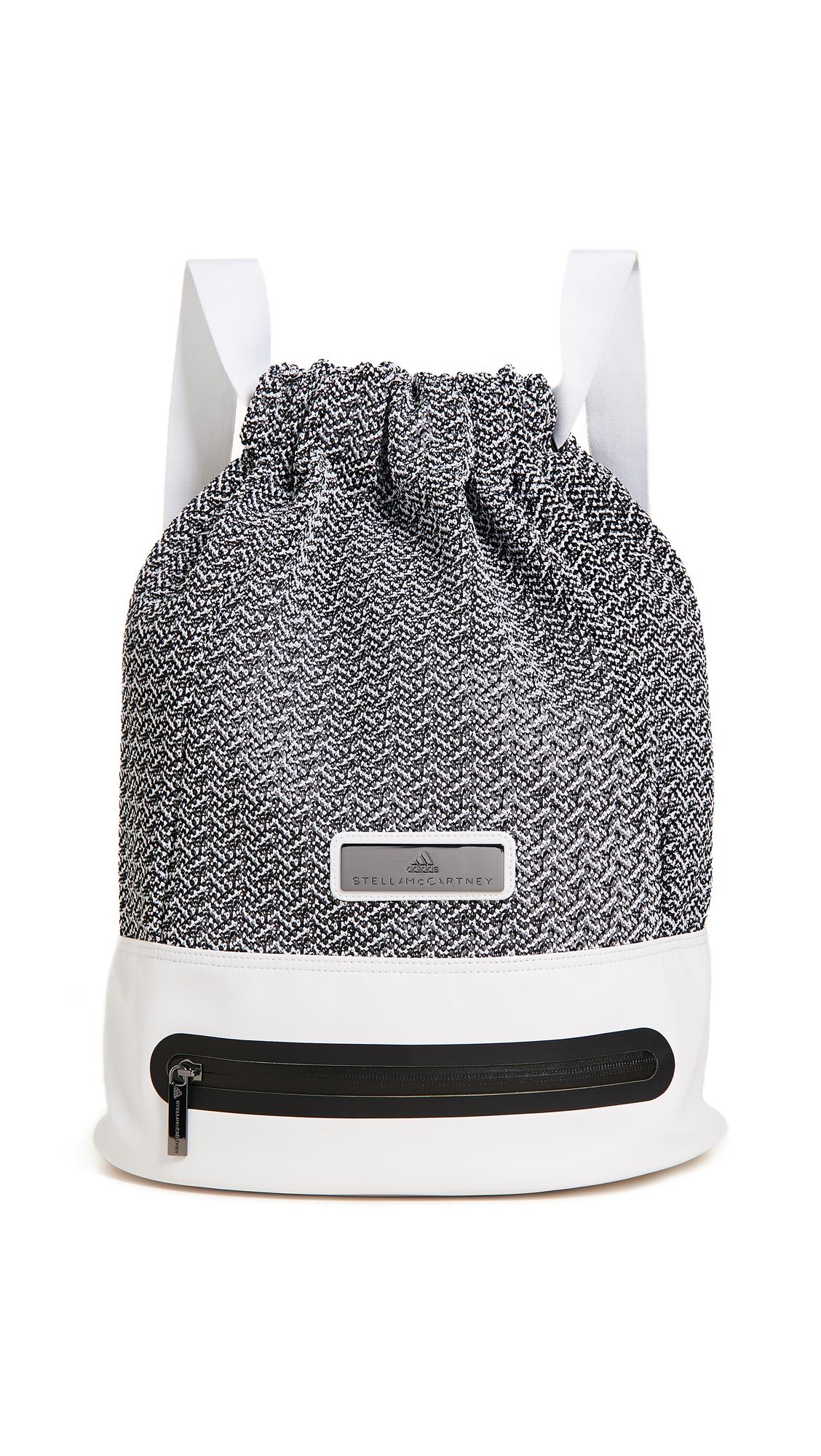 adidas by Stella McCartney Knit Backpack - White/Gunmetal