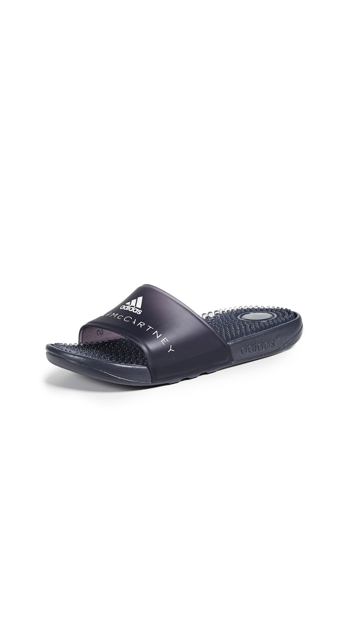 adidas by Stella McCartney Adissage W Slides - Night Steel/Night Steel/White