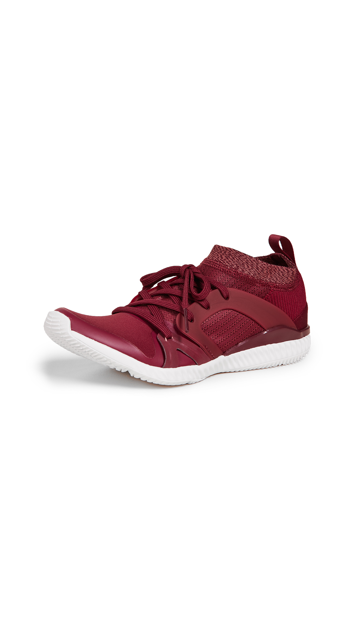 adidas by Stella McCartney CrazyTrain Pro Sneakers - Maroon/Raw Pink/White
