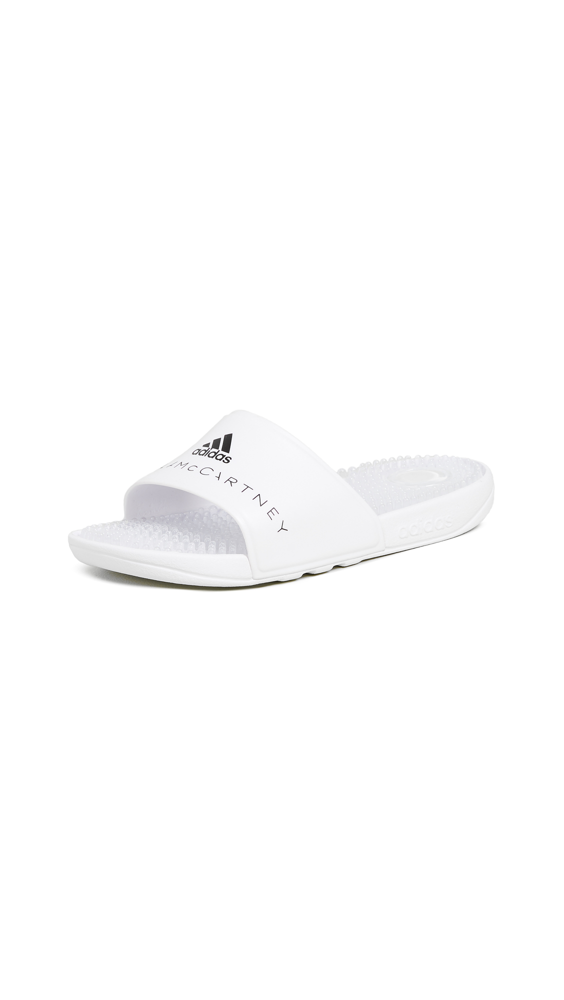 adidas by Stella McCartney Adissage W Slides - White/White/Core Black