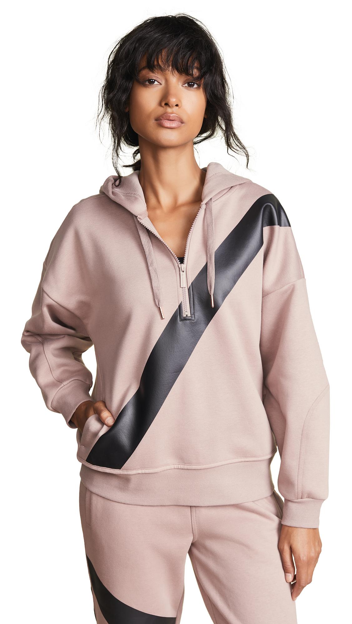 adidas by Stella McCartney Yoga Comfort Hoodie In Smoked Pink