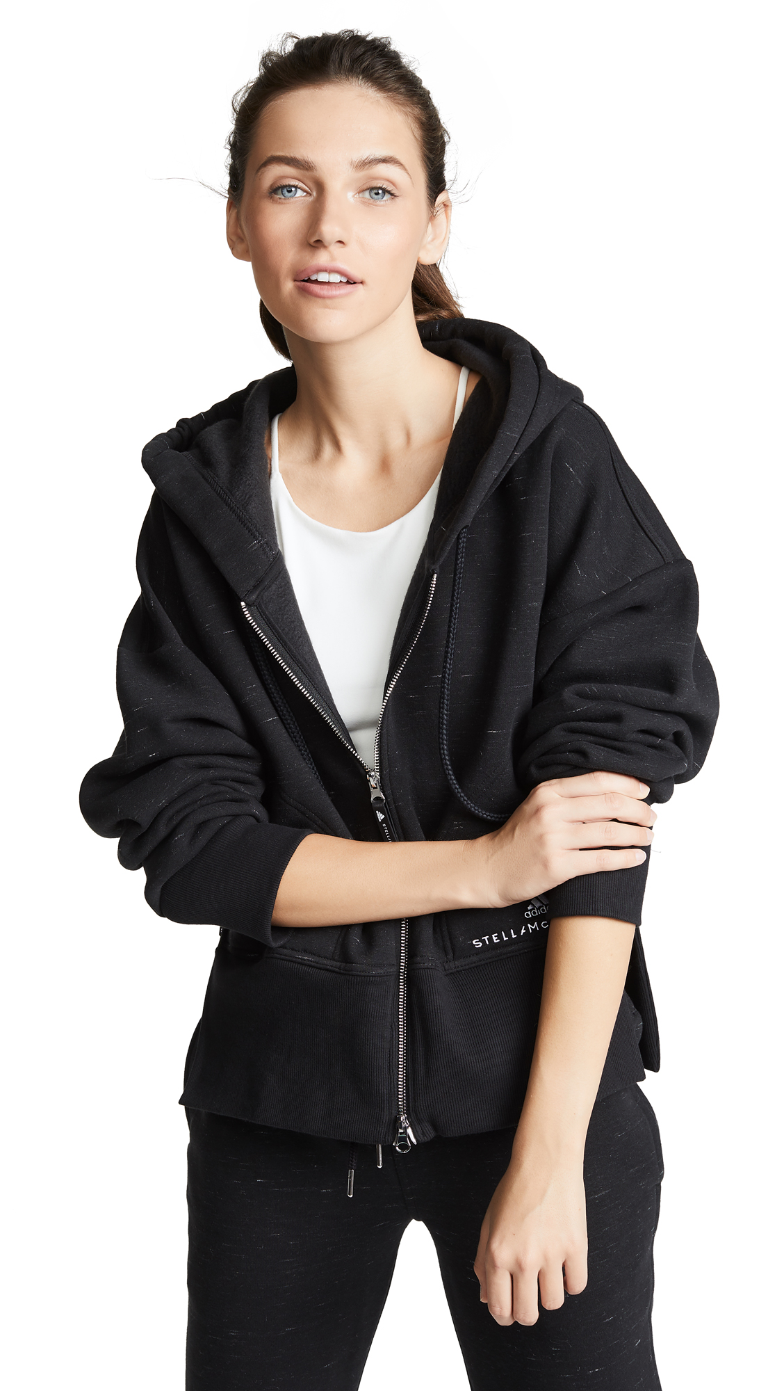 adidas by Stella McCartney Essentials Hoodie In Black/Night Indigo