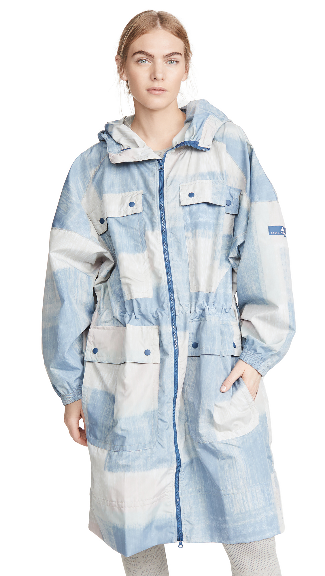 Buy adidas by Stella McCartney online - photo of adidas by Stella McCartney Printed Parka