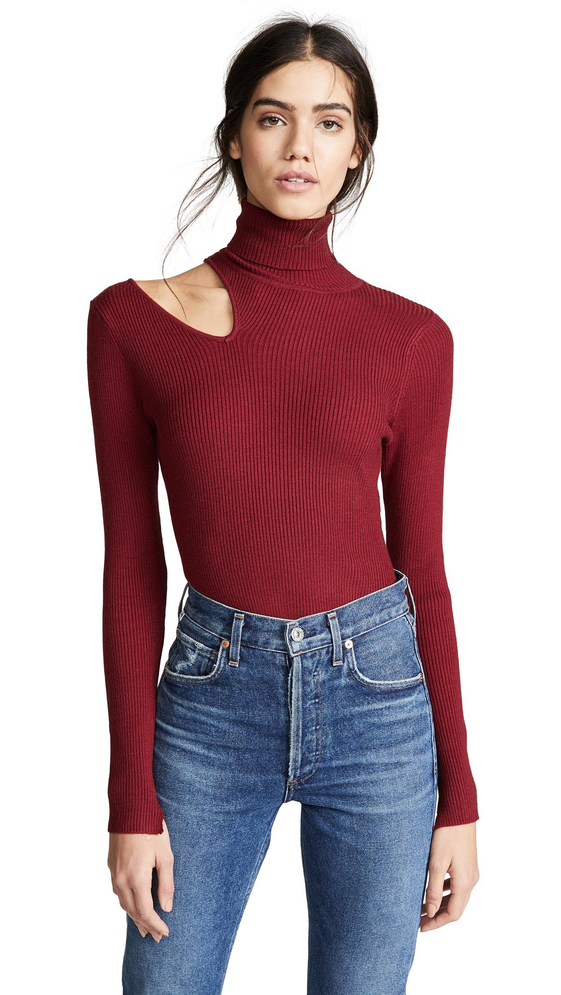ASTR Vivi Sweater in Scarlet Red