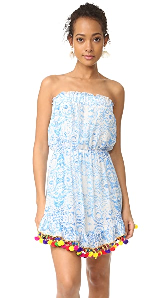 Athena Procopiou The Misummer s Sky Short Dress - Blue/White
