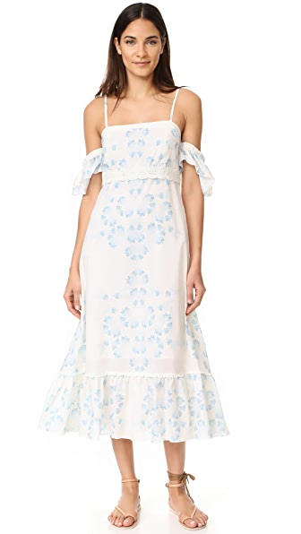 Athena Procopiou Morning Mist Off Shoulder Dress