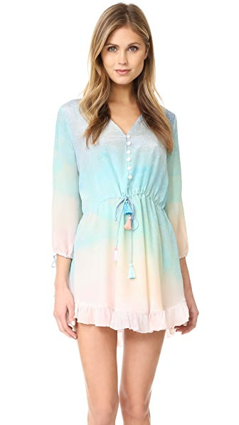 Athena Procopiou Love at Dawn Long Sleeve Dress - Rainbow