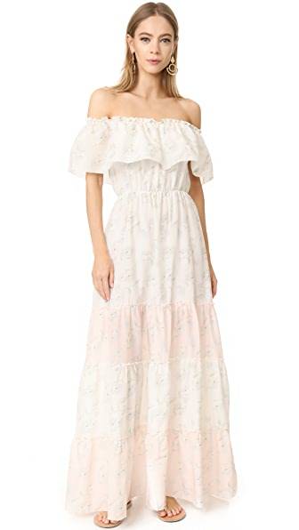 Athena Procopiou Romance in the Wind Gypsy Dress - White/Mix