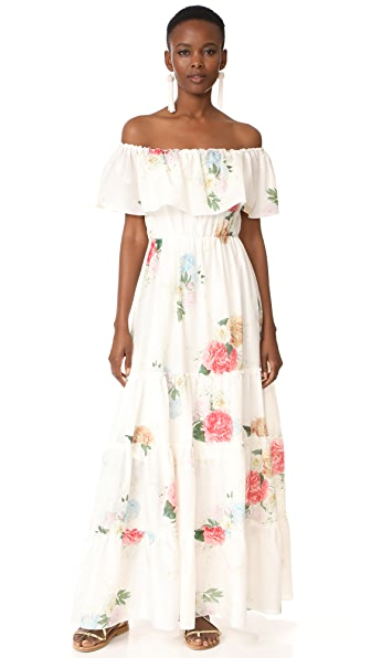 Athena Procopiou Summer Bloom Gypsy Dress